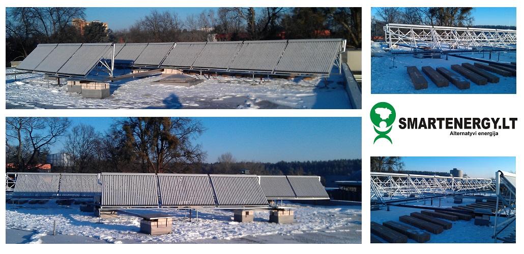 saules kolektoriai vandens šildymui