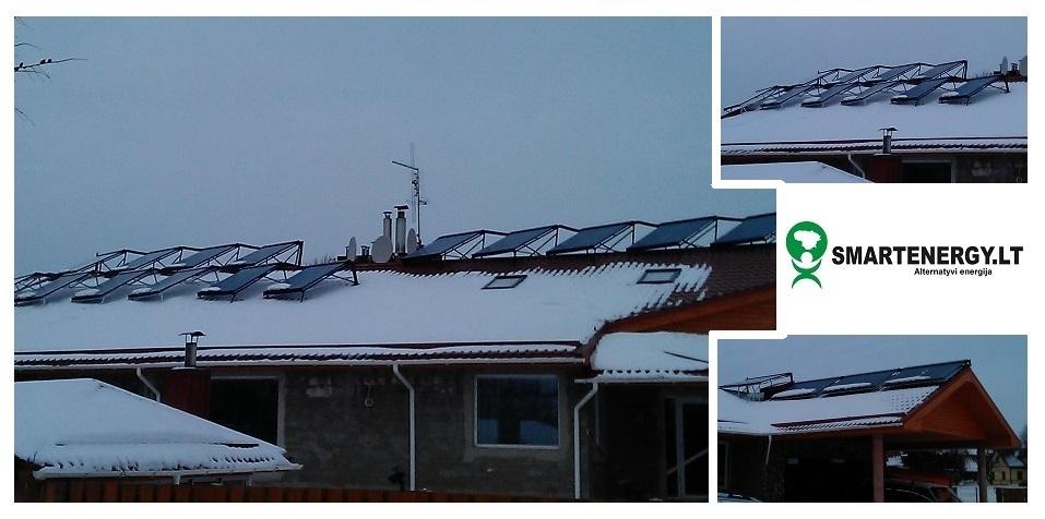 Kolektoriai pastato šildymo sistemai